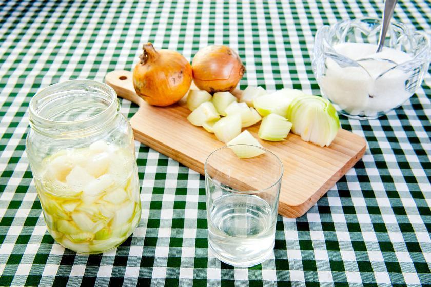 Приготовление лукового сиропа