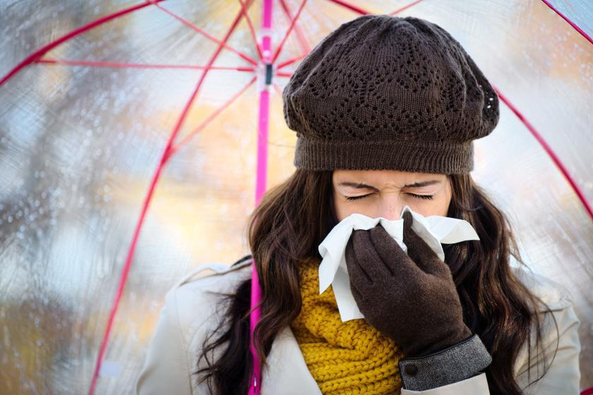 Женщина с гриппом
